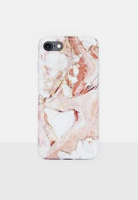 Missguided Pink Marble Iphone Case 7/8