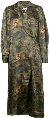 Ganni printed coat dress