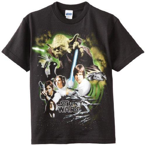 Star Wars Boys 8-20 Epic Wars Glow Regular Tee