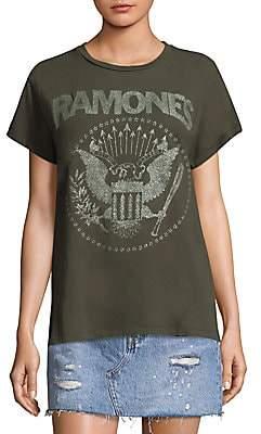 MadeWorn Women's The Ramones Glitter Tee