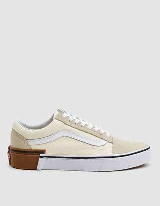 Vans Gum Block Old Skool Sneaker in Classic White