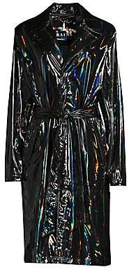 Rains Women's Holographic Overcoat