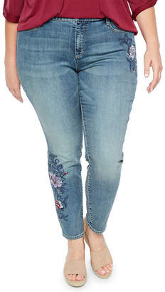 ST. JOHN'S BAY Novelty Skinny Jean - Plus