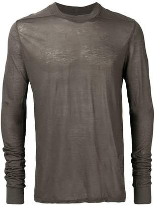 Rick Owens long-sleeve fitted sweater