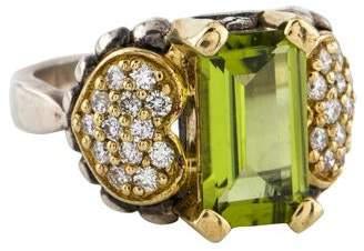 Lagos Peridot & Diamond Cocktail Ring