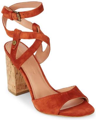 Sigerson Morrison Paulina2 Block Heel Suede Sandal
