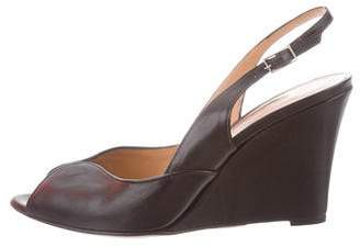 Santoni Slingback Wedge Sandals w/ Tags