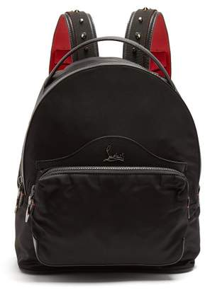 Christian Louboutin Backloubi Small Spike Embellished Backpack - Womens - Black