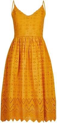 Dorothy Perkins Womens Petite Mango Broderie Midi Dress