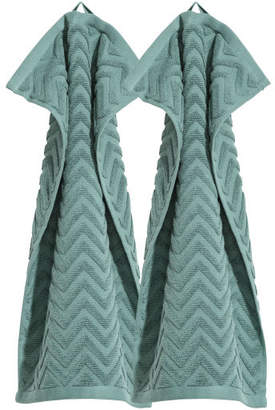 H&M 2-pack Guest Towels - Turquoise