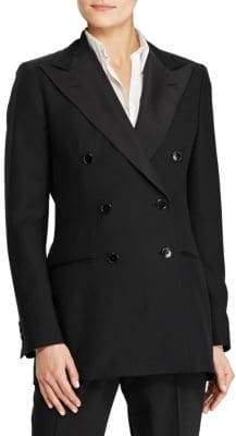 Polo Ralph Lauren Barathea Double-Breasted Wool& Silk Jacket