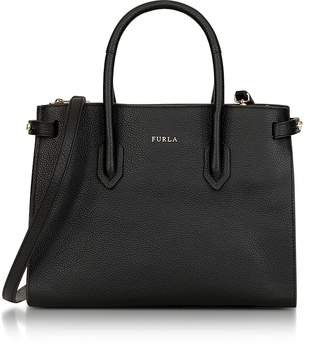 Furla Onyx Leather Pin Small E/W Tote Bag