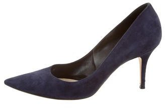 Christian Dior Pointed-Toe Suede Pumps