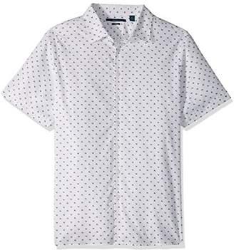 Perry Ellis Men's Big and Tall Short Sleeve Arrowhead Shirt