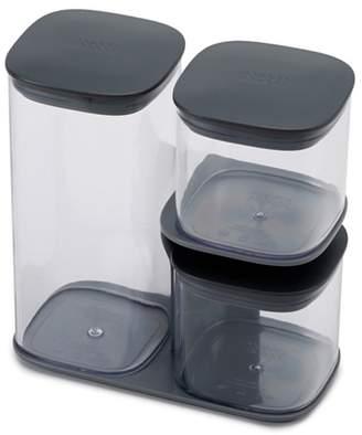 Joseph Joseph Grey 'Podium' 3 Piece Storage Jar Set With Stand