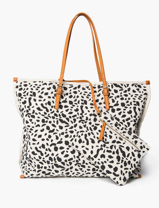 Lucky Brand CANVAS PRINTED TOTE