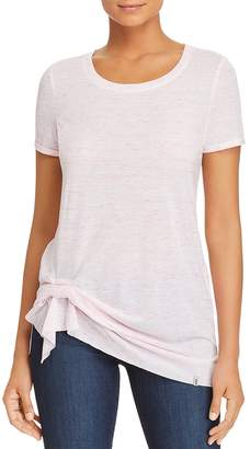 Andrew Marc Performance Space-Dyed Cinched-Hem Tee