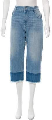 Etoile Isabel Marant Frayed High-Rise Jeans