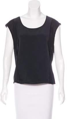 Ralph Lauren Black Label Sleeveless Silk Top