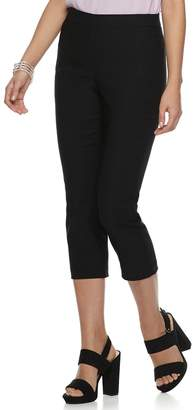 Elle Women's Twill Pull-On Capri Pants