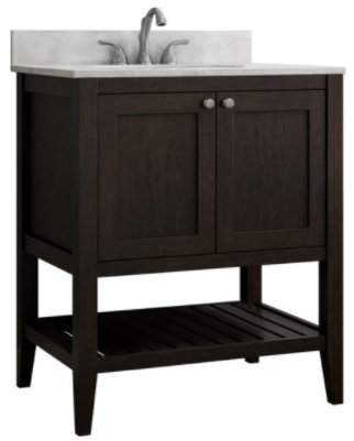 "CNC Costume National Cabinetry Vanguard 30"" Single Bathroom Vanity Base Only Base"