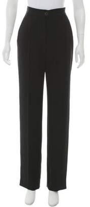Chanel High-Rise Straight-Leg Pants