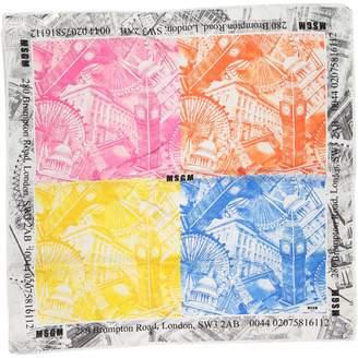 MSGM Multicolour Silk Scarves & pocket squares