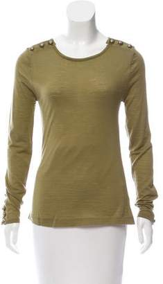 Balmain Embellished Wool Sweater