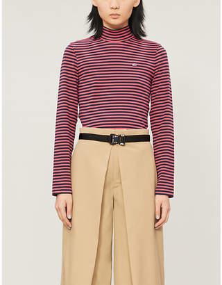 Tommy Jeans High-neck striped stretch-jersey top