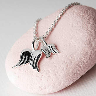 Grace & Valour Angel Wing Necklace On A Personalised Gift Card