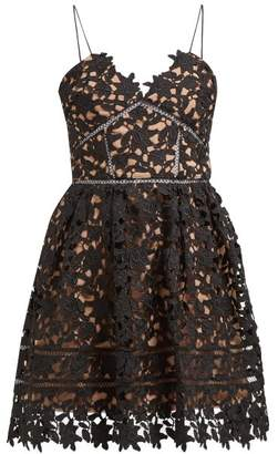 Self-Portrait Self Portrait Azaelea Floral Lace Midi Dress - Womens - Black