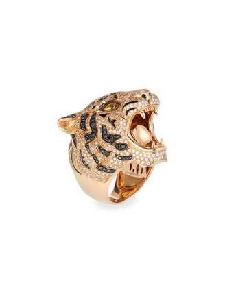 Roberto Coin 18k Rose Gold Diamond Pavé Tiger Ring, Size 7