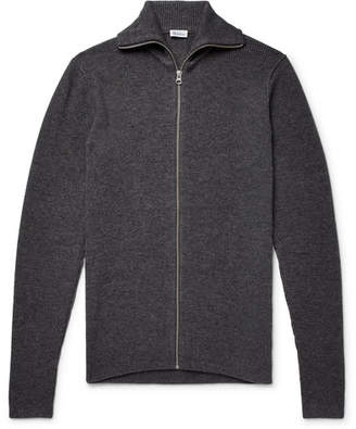 Schiesser Jonah Slim-Fit Wool And Cashmere-Blend Zip-Up Cardigan