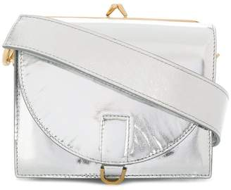 Sacai Metallic leather satchel