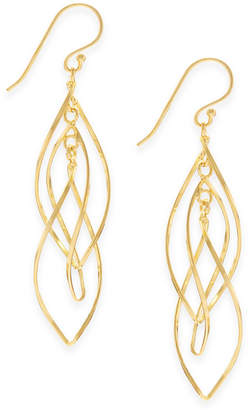 Essentials Gold Plated Interlocking Drop Earrings