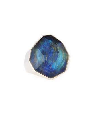 Michael Aram Labradorite, Lapis & Crystal Triplet Ring, Size 7