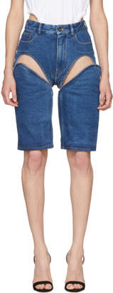 Y/Project Navy Long Crotch Shorts