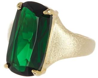 Rivka Friedman 18K Gold Clad Faceted Emerald Ring