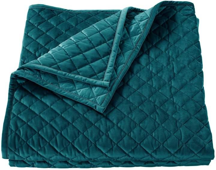 HiEnd Accents Diamond Pattern Velvet Quilt