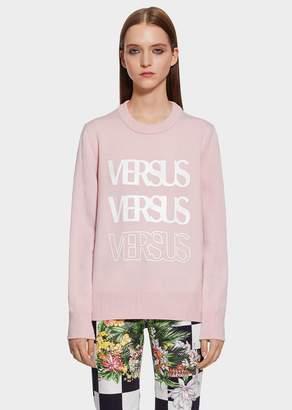 Versace Triple Vintage Logo Wool Sweater