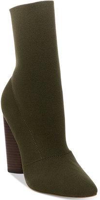 Steve Madden Women's Capitol Pointed Block-Heel Booties $129 thestylecure.com