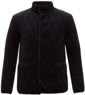Giorgio Armani Quilted Technical Velvet Jacket - Mens - Blue