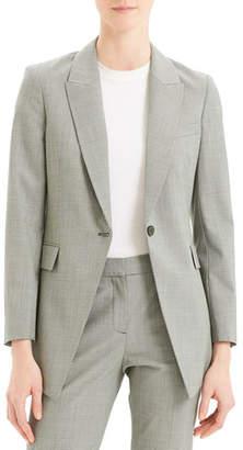 f0374cbee6 Theory Etiennette B Good Wool Long Blazer