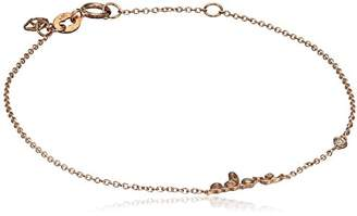 Shy by Sydney Evan Women's Rose Gold Plated 925 Sterling Silver Diamond Bezel Adore Bracelet of 17.145 cm