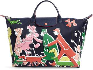 Longchamp x Clo'e Floirat Le Pliage Illustration Travel Bag
