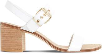 Dune Jany leather block heel sandals