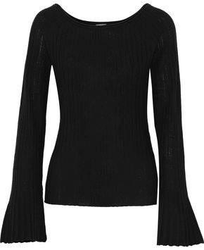 Elie Tahari Weslyn Ribbed Wool Sweater