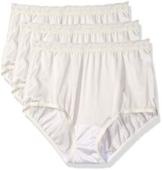 1823a5b43bfa Shadowline Women's Panties-Low Rise Nylon Brief (3 Pack)