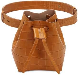Croc Embossed Leather Belt Pack