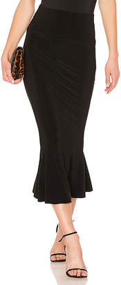 Norma Kamali Cropped Fishtail Skirt